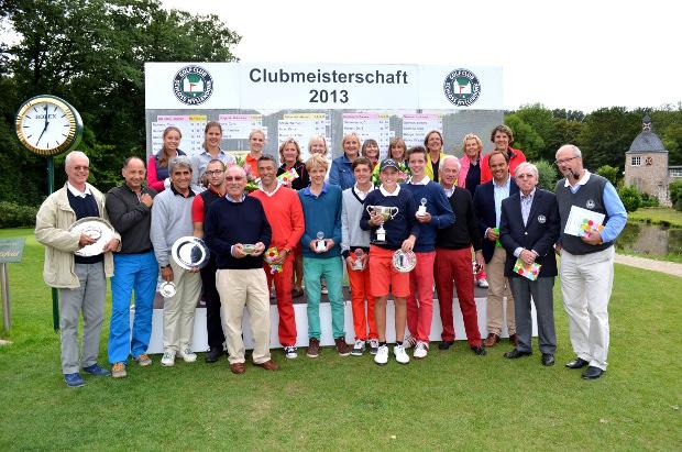 Die Clubmeister 2013 und die Platzierten im GC Schloss Myllendonk