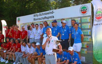 Willy Schniewind Mannschaftspreis: Jubiläumssieg für den GC Hubbelrath