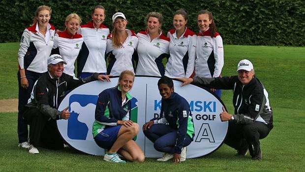 Tagessieg für die jungen Damen des GC Hubbelrath am 3. Spieltag der DGL im Club zur Vahr Bremen (Foto: DGV/stebl)