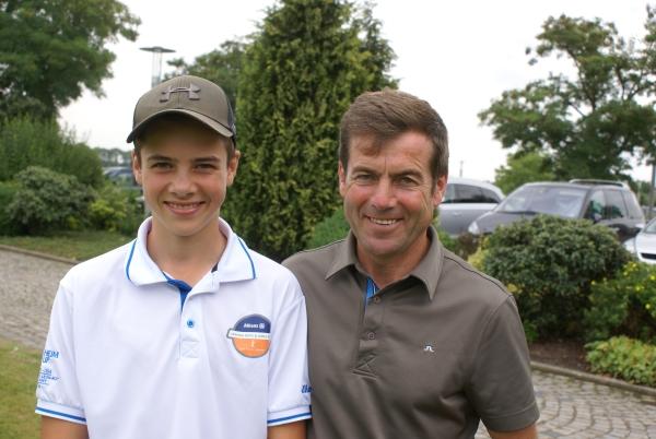 Sohn Laurenz (Handicap 2,6) und Papa Peter Schiergen