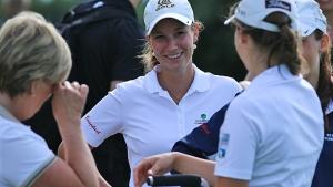 Spielte bei ihrem ersten Start in der DGL 2014 eine starke Runde: Nicola Rössler vom GC Hubbelrath (Foto: DGV/stebl)