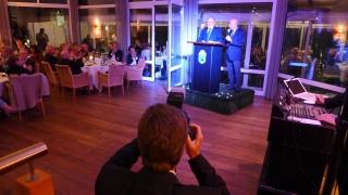 Mitbegründer Dr. Christian Clausen und Präsident Prof. Dr. Peter Stadler bei ihren Festreden