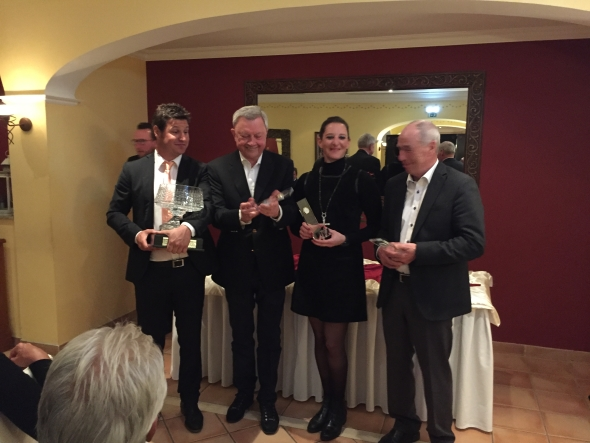 Sie waren in der Netto-Wertung nicht zu schlagen (v.l.): Pro Lucas Iturbide, Ekkehard Stier, Katinka Jacobi und Friedrich Koerner