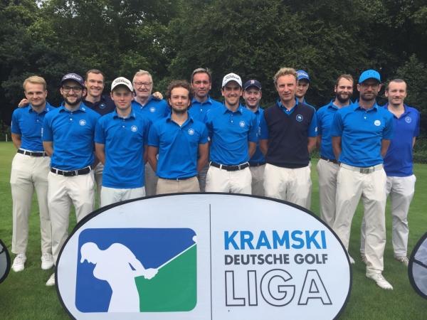 Das Herrenteam des GC Hösel - Aufstiegs-Relegationsspiel zur 1. Bundesliga geschafft