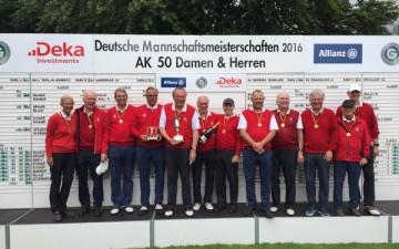 Krefelder GC AK 50-Team deutscher Mannschaftsmeister