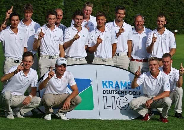 Mit Max Kieffer (2.v.l.) sicherte sich der GC Hubbelrath im letzen Jahr den Titel des Deutschen Mannschaftsmeister (Foto:DGV/Stebl)