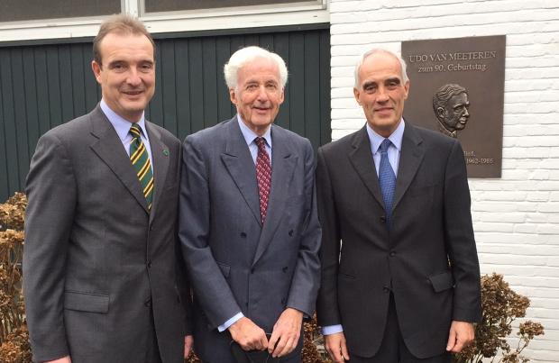 (v.l.n.r.) Vizepräsident Reinhard Schulz, Udo van Meeteren und Präsident Dr. Olaf Huth