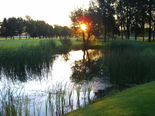 Blick über die Golfanlage in Issum