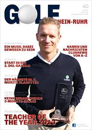 Golf an Rhein und Ruhr Titelbild 01/2014