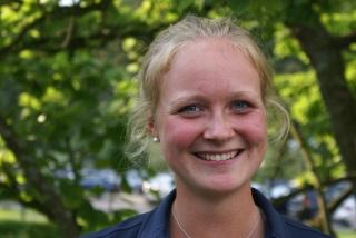 Da freut sich aber jemand – und zu Recht: Sophie Hausmann