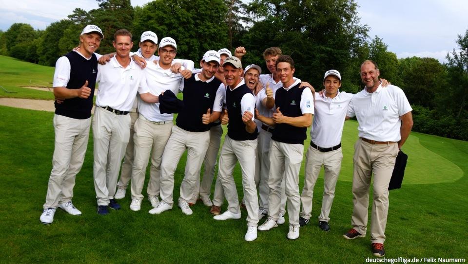 Sie alle haben gut lachen - Tagessieg für den GC Hubbelrath im Hamburger Golf- und Land Club Hittfeld (Foto: DGV/Neumann)