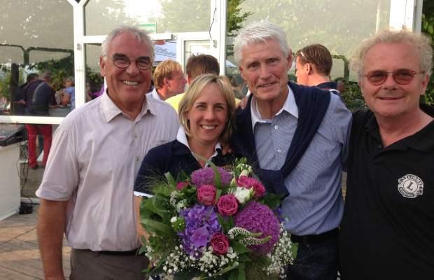 Das Organisationsteam  des Lions Golf Cups mit (v.l.): Prof. Bernhard Lietdke, Sabina Henrich, Manfred Weinig und Prinz Charles von Auersperg