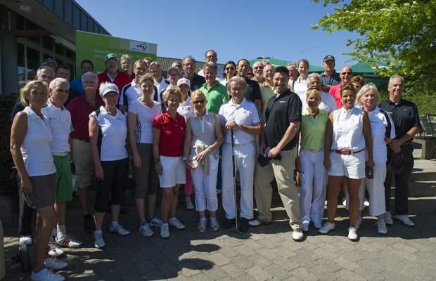 70 erwartungsfrohe Golfspieler beim Heide Rosendahl-Cup im GC Mettmann