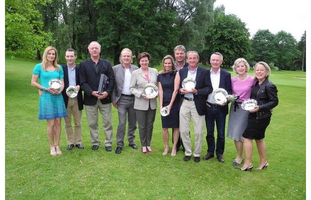 Mit silbernen Tellern geehrt – die Sieger beim 42. Telba-AG-Preis-Turnier
