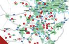 Verbreitungsgebiet Golf an Rhein und Rruhr